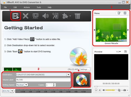 Convert AVI to DVD, AVI to DVD converter