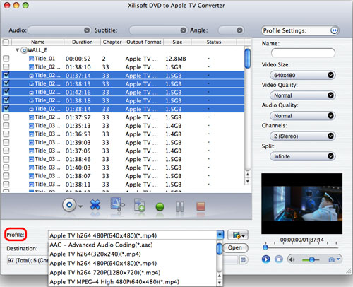 Xilisoft DVD to Apple TV Converter for Mac