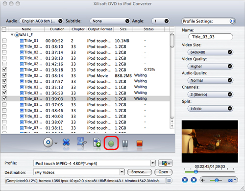 Convert DVD to iPod on Mac, Mac convert DVD to iPod, DVD to iPod converter on Mac