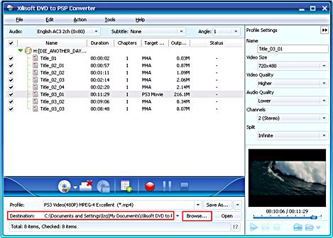Xilisoft DVD to PSP Converter