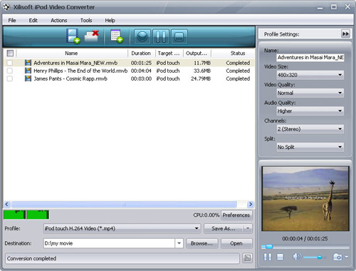Convert RMVB to iPod, iPod video converter, RMVB to iPod converter
