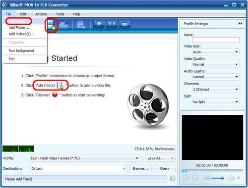 Xilisoft MOV to FLV Converter