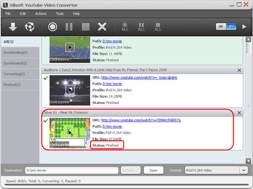 Download YouTube video, YouTube video converter, Convert YouTube video to PSP