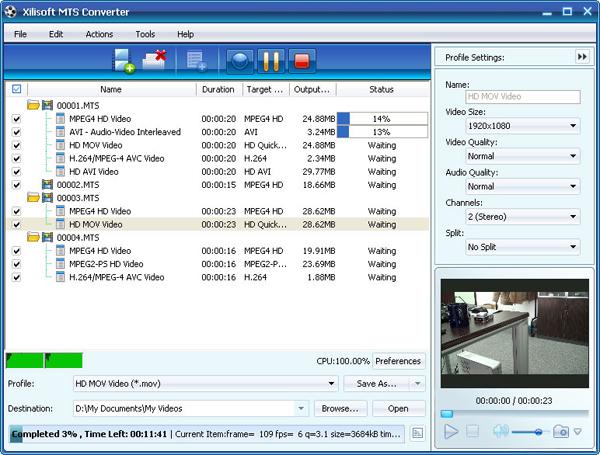 MTS Converter, MTS to AVI Converter