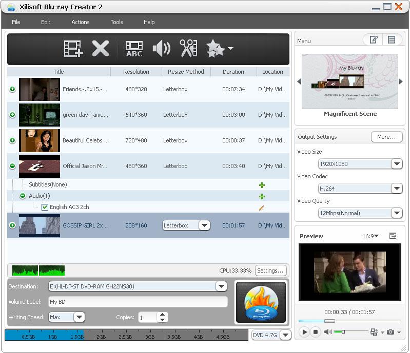 Xilisoft Blu-ray Creator 2