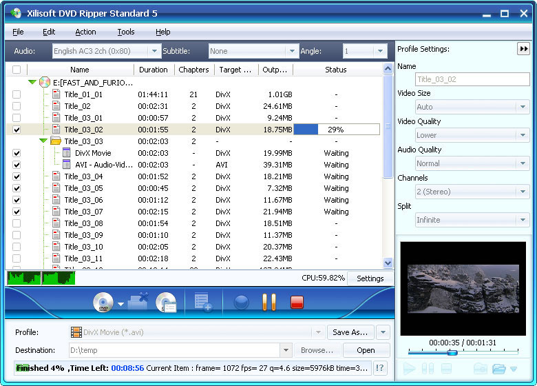 Xilisoft DVD to Video Standard