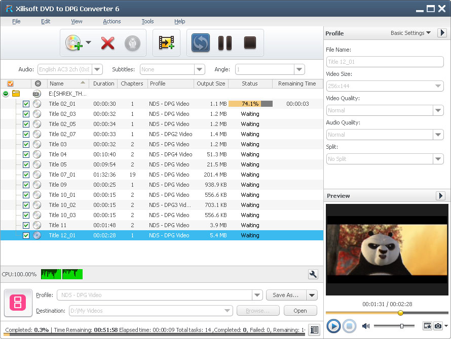 Xilisoft DVD to DPG Converter