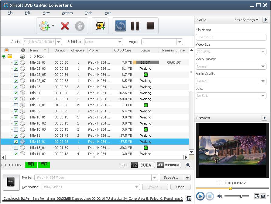 Xilisoft DVD to iPad Converter