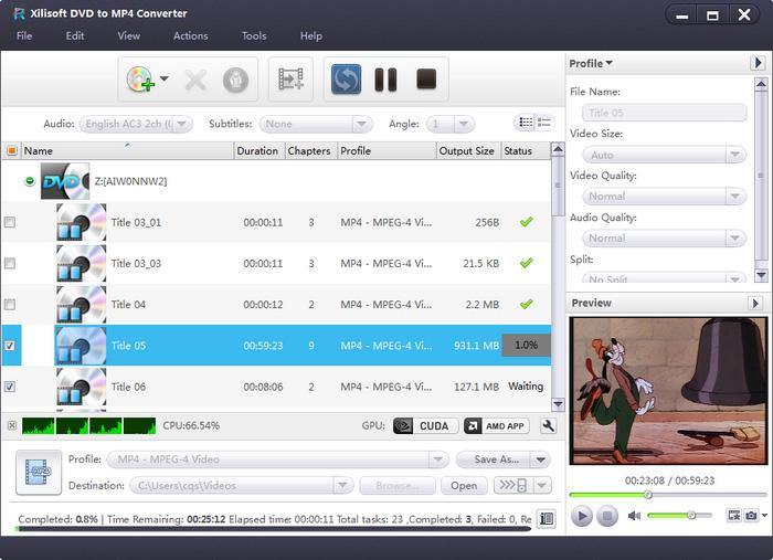 Xilisoft DVD to MP4 Converter: Convert Home DVD to MP4, AVI, DivX ...