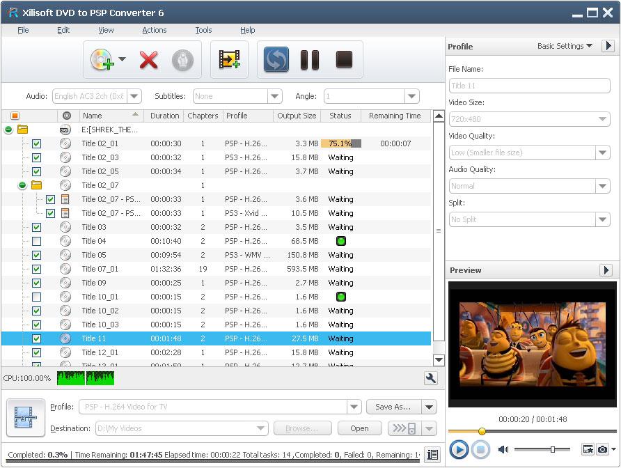 Xilisoft DVD to PSP Converter - PSP converter