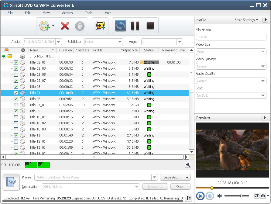 Xilisoft DVD to WMV Converter - Convert DVD to WMV