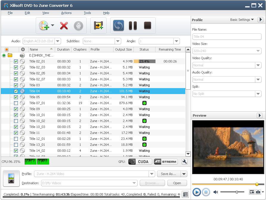 Xilisoft DVD to Zune Converter - Convert DVD to Zune video, convert Zune