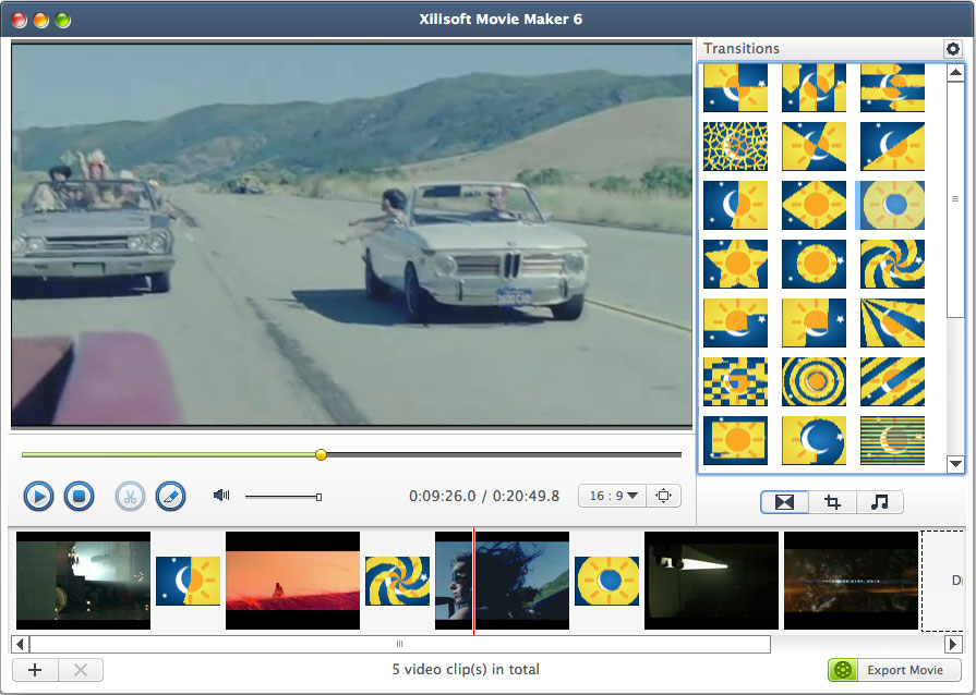 Xilisoft Movie Maker For Mac Create Movies From Hd Common