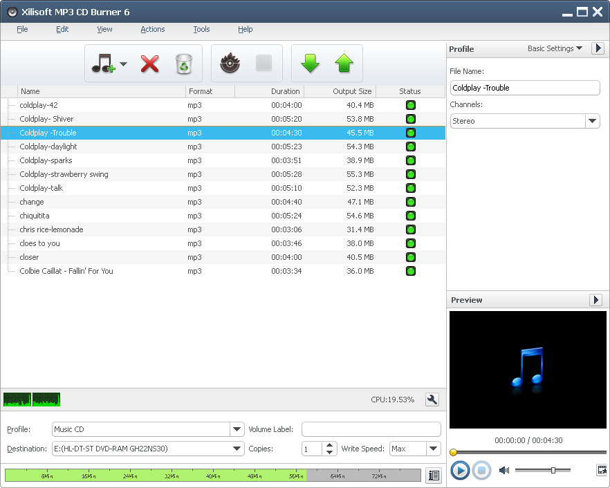 Xilisoft MP3 CD Burner