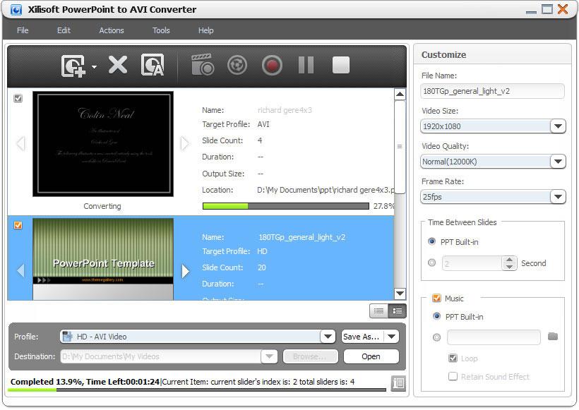 Xilisoft PowerPoint to AVI Converter