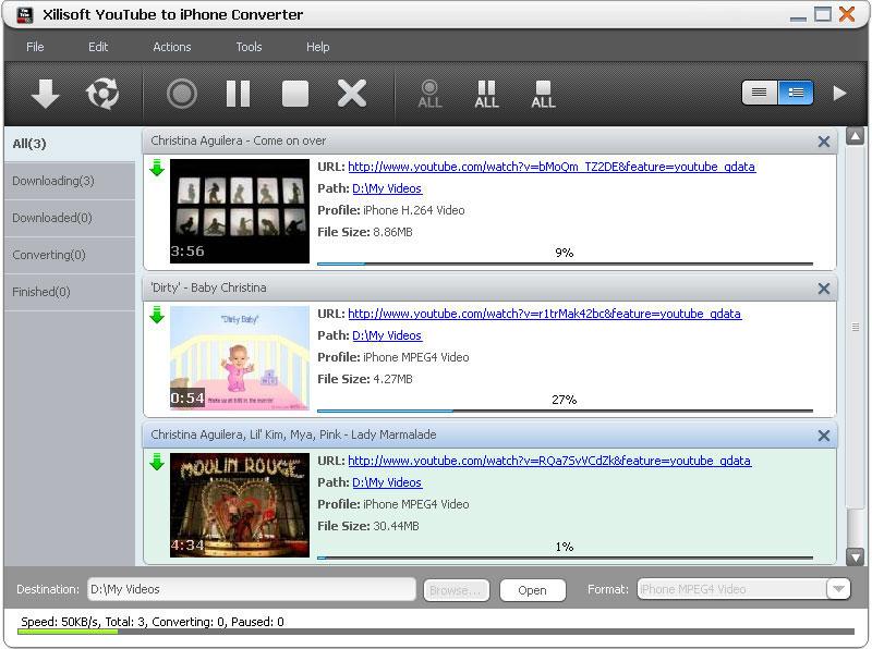 Xilisoft YouTube to iPhone Converter