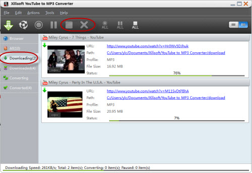 Manage the YouTube to MP3 Conversion Tasks